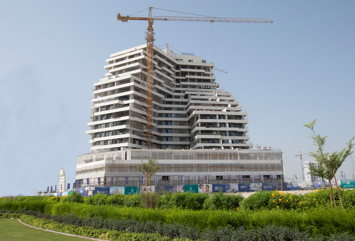 Azizi Aliyah Residences in the final phase of construction
