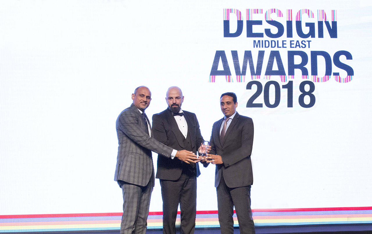 Azizi Developments wins 'Developer of the Year' at Design Middle East Awards 2018.