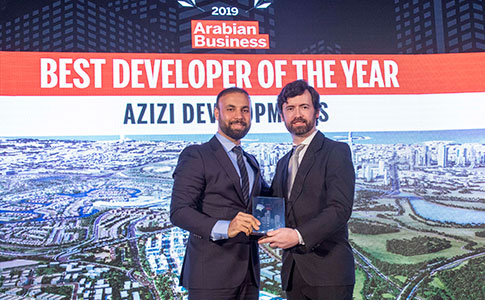 Azizi Developments Named 'Best Developer Of The Year' At Arabian Business Real Estate Awards 2019